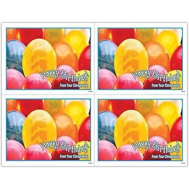 MAP Brand Photo Image Laser Postcards Birthday Balloons with Spines