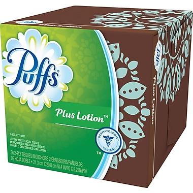 Puffs® Plus Lotion Facial Tissue, Cube