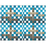 MAP Brand Graphic Image Laser Postcards Scrabble Thank You