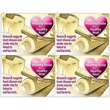 MAP Brand Graphic Image Laser Postcards Healthy Smile, Healthy Heart