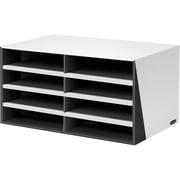 Bankers Box® - Trieuse de documents Premier à 8 compartiments, format lettre, noir