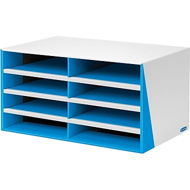 Bankers Box® Premier™ Letter-Size 8-Compartment Literature Sorter, Blue (53945W)
