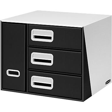 Bankers Box® Premier™ 3-Drawer with Bin Organizer, Black (3648001)