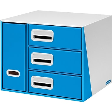 Bankers Box® Premier™ 3-Drawer with Bin Organizer, Blue (7648601)