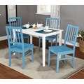 TMS Camden 29in. x 45in. x 28in.5 Piece Dining Set, White/Blue