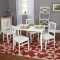 TMS Camden 29in. x 45in. x 28in. 5 Piece Dining Set, White