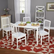 "TMS Camden 29"" x 45"" x 28"" 5 Piece Dining Set, White"