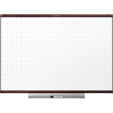 Quartet® Prestige 2® (20166) Non-Magnetic Total Erase Whiteboards, Mahogany Frame, 4' x 3'