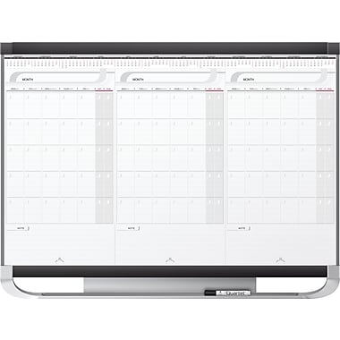Quartet® Prestige® 2 Magnetic Calendar Board (20127), 3-Month, 36