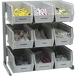 Carlisle 381109LG, Aluminum Packet Rack, comes with 9 ea 3.5 qt containers