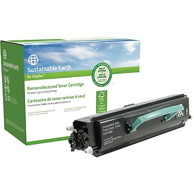 Sustainable Earth by Staples Reman Black Toner Cartridge, Lexmark E330/340 (SEBE330/340)