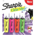 Sharpie Clear View Highlighters, Chisel Tip, Assorted, 4/Pack