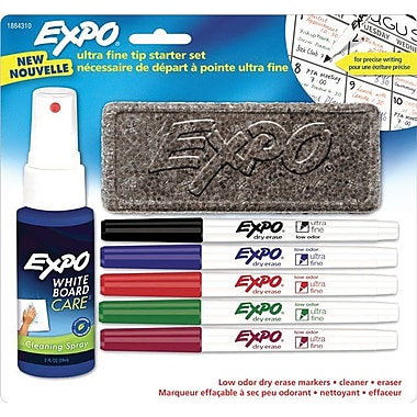 Expo Low Odor Dry-Erase Markers, Ultra Fine Point, Assorted, Starter Set, Each
