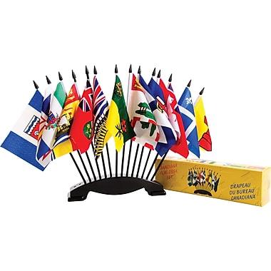 Canadiana Boxed Flag Set, 4