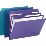 "Smead® SuperTab® Organizer File Folder, 2 Part, Assorted, LETTER-size Holds 11 5/8"" x 9 1/2"", 3/Pack"
