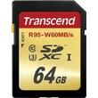 Transcend 64GB UHS1-U3 Class 10 SDXC Card 4K ready
