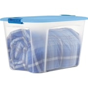 BELLA 121 QT Container, Clear with Blue Lid