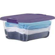 Staples 12 QT Container, Clear with Color Lid