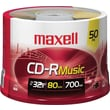 Maxell 700MB CD-R, Spindle, 50/Pack