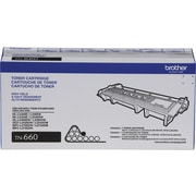 Brother TN-660 Toner Cartridge, Black, High Yield