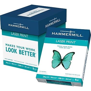 Hammermill® LaserPrint FSC-Certified Paper, 24 lb., 98 Bright, 8.5