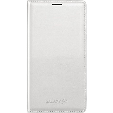 Samsung Galaxy S5 Flip Wallet Phone Case, White