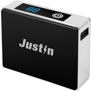 Justin (JB-10-5200) 5,200 mAh Power Bank Phone Charger with LED Display Indicator