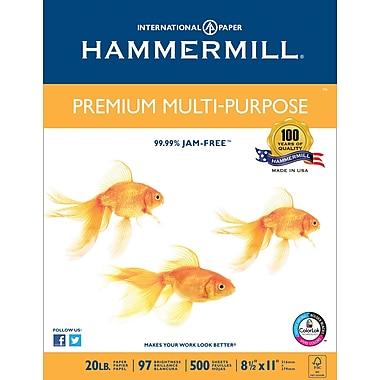 Hammermill® Premium Multipurpose FSC-Certified Paper, 20 lb., 97 Bright, 8.5