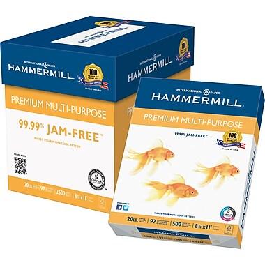 Hammermill® – Papier tout usage de qualité supérieure certifié FSC, 20 lb, brillance 97, 8,5 po x 11 po, boîte