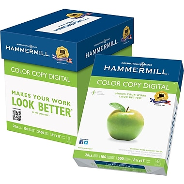 Hammermill® Colour Copy Digital FSC-Certified Paper, 28 lb., 100 Bright, 8.5