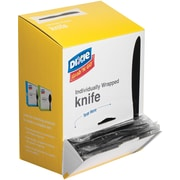 Dixie® Grab N Go Individually Wrapped Knife, Black, 90/box