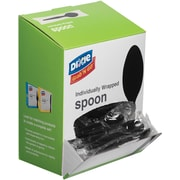 Dixie® Grab 'N Go Individually Wrapped Spoon Plastic Black 90/box (TM5W540)