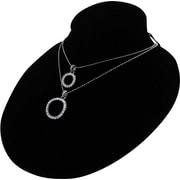 Velvet Necklace Oval Display, Black