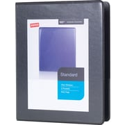 "1"" Staples® Standard  5-1/2"" x 8-1/2"" Mini View Binder with Round Rings, Black"