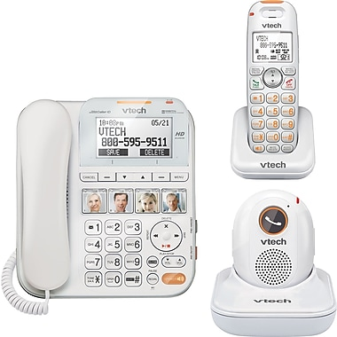 VTech SN6197 Corded/Cordless CareLine Home Safety Telephone System