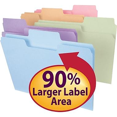 Smead® SuperTab® File Folder, Oversized 1/3-Cut Tab, Letter Size, Assorted Colors 100/Box (11961)