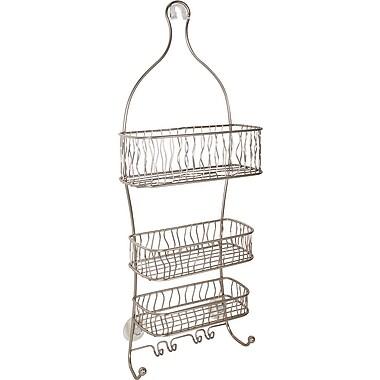 InterDesign® Squiggle Shower Caddy, Satin Nickel