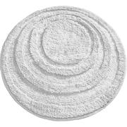 "InterDesign® Spa 24"" Round Microfiber Polyester Bath Rug, White"
