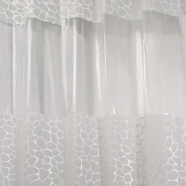 InterDesign® Pebblz View EVA Stall Size Shower Curtain, White