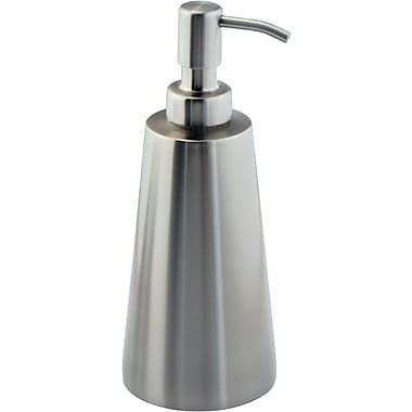 InterDesign® Forma Koni Soap Pump, Brushed Stainless Steel