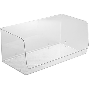 InterDesign® Linus 2XL Stacking Organizer Bin, Clear