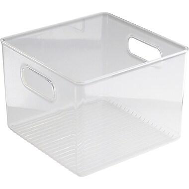 InterDesign® Linus Plastic Fridge n Pantry Binz, Clear