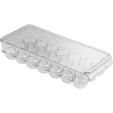 InterDesign® Fridge Binz 21 Egg Holder, Clear