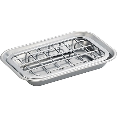 InterDesign® Sinkworks 2-Piece Soap Dish, Polished Chrome