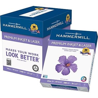 Hammermill® Premium Inkjet /Laser FSC-Certified Paper, 24 lb., 97 Bright, 8.5
