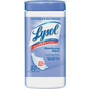 Lysol Disinfecting Wipes, Early Morning Breeze, 7 x 8, 80/Canister, 6 Canister/CT