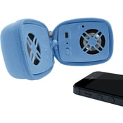 URGE Basics Wireless Zip-Up Travel Speaker with Built in Mic, Blue