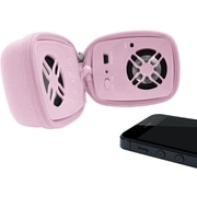 URGE Basics Wireless Zip-Up Travel Speaker with Built in Mic, Pink