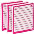 Poppin Pink Set of 3 Task Pads