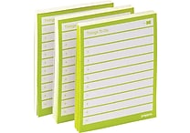 Poppin Task Pads, Lime, Set of 3 (100049)